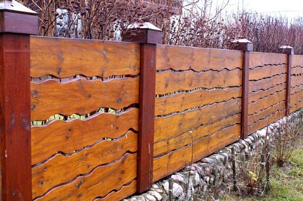 Ворота из необрезной доски