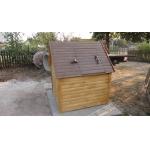 Домик для колодца из блок-хауса