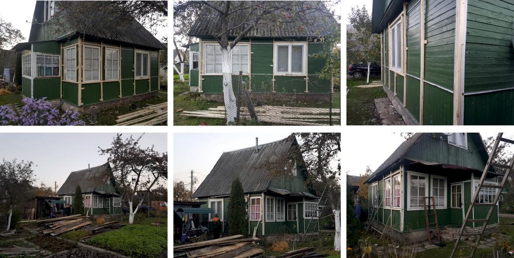 Замена фасада дома